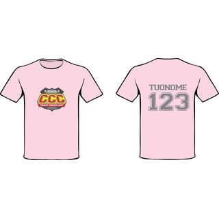 T-SHIRT ROSA - Logo CCC + Nome e Numero di Gara